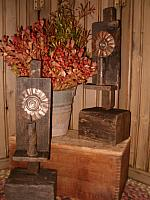 barn beam standing reflector sconces