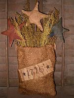 1776 hanging burlap star sack