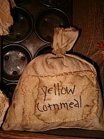 yellow cornmeal patched sack