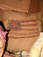large patched flag pillow