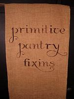 Primitive pantry fixins towel
