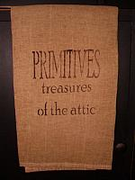 Primitives treasures of the attic towel