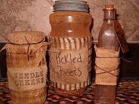 large grubby pantry jars