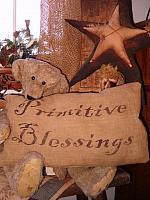 rectangular primitive blessings pillow
