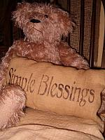simple blessings pillow