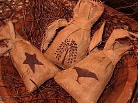 small osnaberg rag stuffed sacks