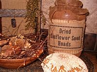 Dried Sunflower Seed Heads jumbo pantry jar