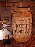 Country Primitives jumbo pantry jar