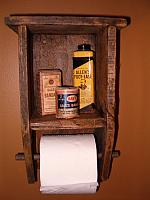toilet paper holder with display shelf