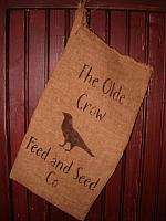 The Olde Crow Feed and Seed Co floursack
