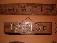 Come gather in our kitchen sign