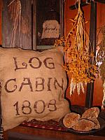 log cabin 1808 pillow