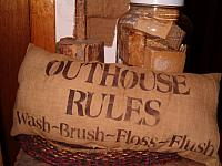 Outhouse Rules pillow