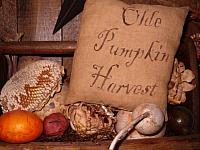 olde pumpkin harvest pillow