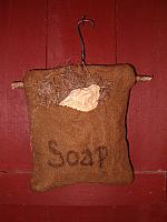 hanging heirloom soap pouch