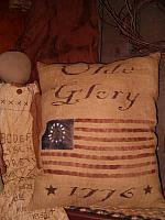 Olde Glory 1776 flag pillow