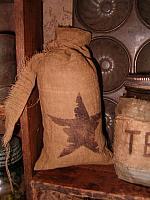 distressed star sack