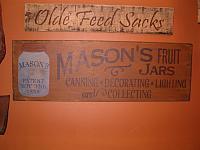 Masons Fruit Jars sign