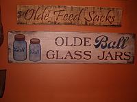 Olde Ball Glass Jars sign