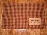 dark mustard check homespun placemat