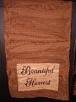 bountiful harvest dark mustard gingham table runner