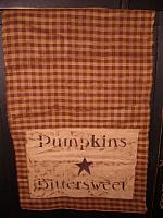 pumpkins bittersweet dark mustard check table runner