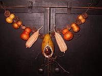 pear tealite gourd garland