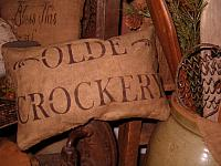 olde crockery pillow