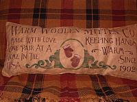 warm woolen mitten co pillow