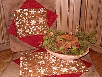 snowflake table mats