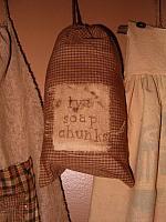 Lye soap chunks sack