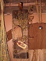 barnwood tuck doll hanger