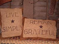 live simply or remain grateful pillow