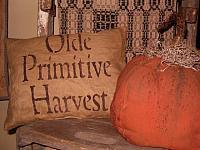 Olde Primitive Harvest pillow