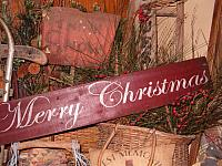 #1322 large Merry Christmas sign