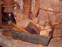 wool filled bread tin
