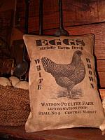 Watson Poultry farm eggs pillow