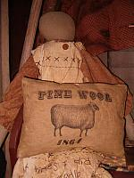 fine wool 1864 pillow