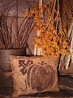 pumpkin silhouette pillow