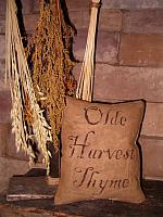 small olde harvest thyme pillow