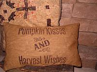 pumpkin kisses pillow