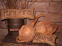 pumpkins and gourds straw stuffed pillow set