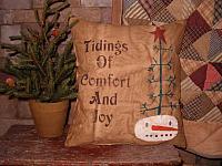 Tidings of comfort and joy pillow
