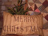 Merry Christmas star pillow