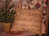 #1374 Christmas memories pillow