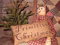 Primitive Christmas pillow
