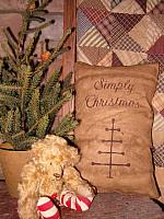 Simply Christmas feather tree pillow