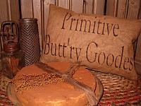 primitive butt'ry goodes pillow