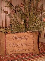 Simply Christmas heirloom pillow
