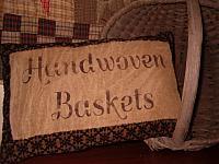 handwoven baskets black crossweave pillow